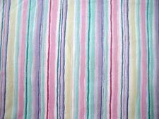 New Vintage Bloomcraft Home Decor Pastel Stripes Design Cotton Fabric BTY