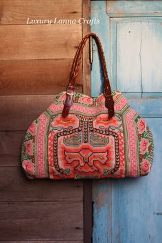 Luxury Hmong ethnic Tote HB201233 vintage by LuxuryLannaCrafts, $119.00