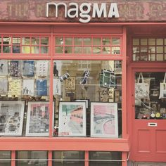 Hanging in the windows of one of our favourite #london stores #magma #magmabooks @magma_books looking lovely the #GOODORDERING #shopper #minimebackpack and #saddlebag