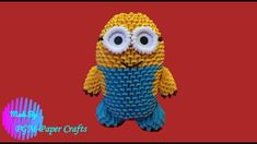 DIY - Origami: How to make a Minion origami model 2 Minion, Diy Origami, Makati, Crochet Hats, 3d, Model, Knitting Hats, Minions