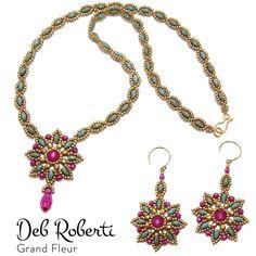 Grand Fleur Necklace & Earrings by Deb Roberti
