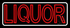 Double Stroke Red Liquor With White Border Neon Sign 13 Tall x 32 Wide x 3 Deep, is 100% Handcrafted with Real Glass Tube Neon Sign. !!! Made in USA !!!  Colors on the sign are Red And White. Double Stroke Red Liquor With White Border Neon Sign is high impact, eye catching, real glass tube neon sign. This characteristic glow can attract customers like nothing else, virtually burning your identity into the minds of potential and future customers.