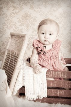 Vintage style portraits, Antique baby <3, Children's photography in Atlanta GA by www.Foreverylife.com