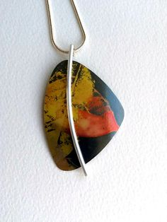 Sterling silver and anodised aluminium pendant made towards the end of 2012.
