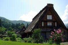 白川郷。  (Shirakawa-go of summer.)