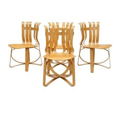 American Frank Gehry Hat Trick Side Chairs for Knoll
