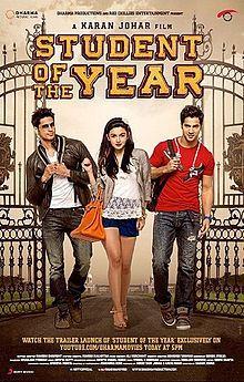 Student of the Year Bollywood Posters, Bollywood News, Bollywood Style, Indian Bollywood, Bollywood Actress, Hindi Movies Online, Student Of The Year, Rishi Kapoor, Karan Johar