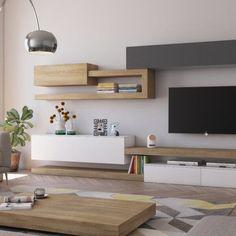 Living Room Tv Cabinet, Living Room Wall Units, Living Room Tv Unit Designs, Ikea Living Room, Living Room Furniture, Living Rooms, Diy Furniture Tv Stand, Tv Unit Furniture Design, Homer Decor