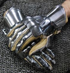 early gothic fingered gauntlets made after an effigy about 1460.