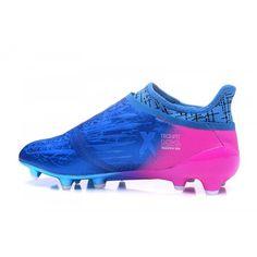 Adidas X - Chuteiras De Futebol 2017 Adidas X 16 Purechaos FG AG Azul  Pessego Boa 1d6173bc4cb62
