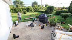 Must See DIY Patio Makeover with Pergola - ToolBox Divas White Pergola, Modern Pergola, Diy Patio, Backyard Patio, Backyard Ideas, Outdoor Retreat, Outdoor Decor, Inexpensive Patio, Sunken Patio