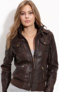 MICHAEL Michael Kors Women's Leather Bomber Jacket by savingscom, via Flickr