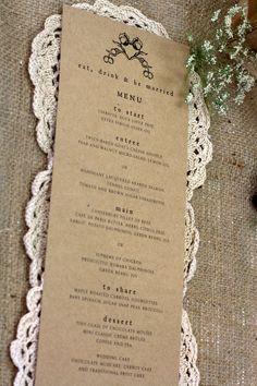 menu by Invitation Stationery