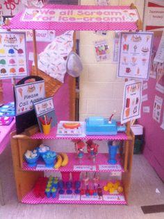 Ice-Cream Parlour role-play area classroom display photo - Photo gallery - SparkleBox