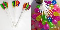 Tired of spending hours filling up a bunch of water balloons?  This set of over 100 balloons are perfect for you. Simply attach to a hose and turn on your water to fill the balloons in under a minute.