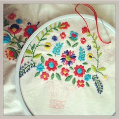 Floral Fiesta Embroidered Pouch