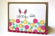 Happy Easter Card by Heather Nichols for Papertrey Ink (February 2014)