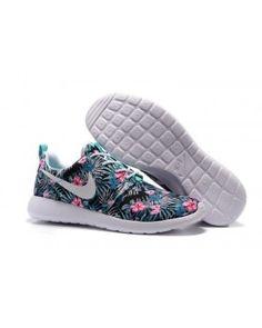Nike Roshe One Print PREM Washed Teal Floral Running Shoes NSW Black Friday  Shoes 69b661122