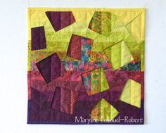 """""""holes"""" / """"trous"""" wall hanging quilt, with a tutorial by maryline collioud-robert on the maryandpatch blog"""
