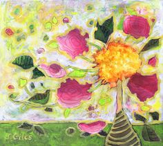 I am a long-time fan of negative painting, and it's a technique that I use to rescue or enhance my paintings. One of my favorite artist instructors is Linda Kemp. Check out her use of negativ… Flora Flowers, Flower Art, Vines, Art Projects, Art Photography, Daisy, Tapestry, My Favorite Things, Floral