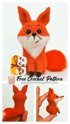 Free Crochet, Crochet Hats, Step By Step Crochet, Cute Fox, Learn To Crochet, Crochet Animals, Free Pattern, Dinosaur Stuffed Animal, Crochet Patterns