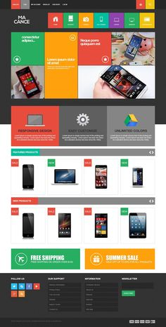 MA Cance - Responsive Metro Style #Magento Electronic Store Theme