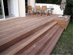 patio deck design ideas for your backyard 28 Deck Steps, Porch Steps, Wooden Terrace, Wooden Decks, Terrace Decor, Rooftop Terrace, Terrace Garden, Patio Deck Designs, Patio Design