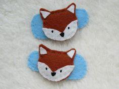 Fox hair clips, toddler hair accessories £4.00