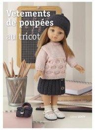 Poppenkleren om te breien, 24 outfits, uitgeverij Les éditions de Saxe