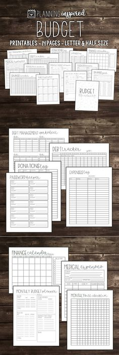 14 Page Printable Budget Planner #ad