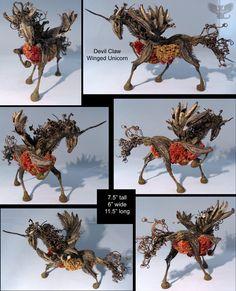 Devil Claw Winged Unicorn by ART-fromthe-HEART on DeviantArt