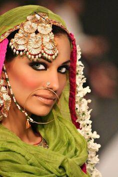 Pakistani fashion. Damn look at those eyes and cheekbones! 0_0