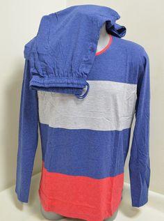Цветна мъжка пижама изработена от памук в синьо eeb28942d6b46