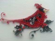Quilled cardinal made by me