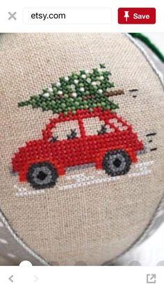 Vehicle cross stitch.