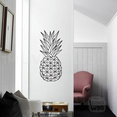 Geometric Pineapple Wall Art Pineapple Stickers Wall by LivingWall
