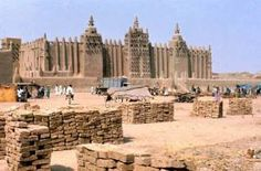 The Great Mosque of Djenne is one of the great marvels of the African empire of Mali.