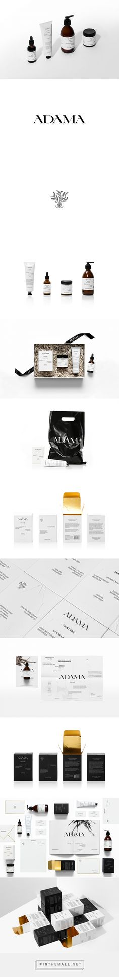 Adama skincare packaging design by Anagrama (Mexico) - http://www.packagingoftheworld.com/2016/09/adama.html