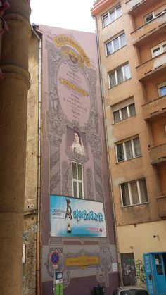 Princess Sissi's portrait. Murales in Budapest