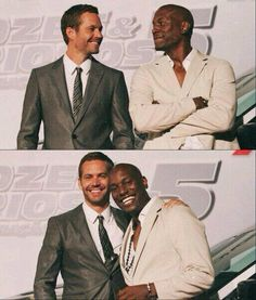 Paul Walker and Tyrese Gibson...Friends :)