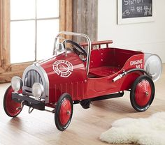 Fire Truck Pedal Car | Pottery Barn Kids