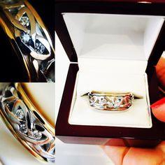 Wedding Ring, Men's Women Rings, Scottish Ring, Unique, 14k Gold, Wedding Bands, Celtic, Engagement Ring, Irish Ring, Viking Ring. His Hers www.ringsparadise.com
