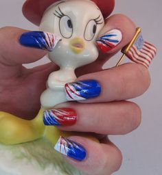 Set in Lacquer: Patriotic mani....soooo doing this for the 4th of July