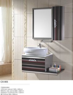 Pictures In Gallery stainless steel bathroom vanity cabinet modern stainless steel bathroom cabinet Pinterest Bathroom vanities Steel and Bathroom