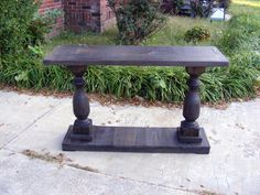 Ok! this one is perfect for my entry! Love the shape and the stain!  Console Table Handcrafted Beautiful Ebony by TheWoodworkMan, $395.00