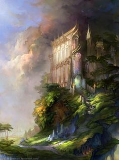 Fantasy Architecture Illustrations by Snow Skadi | nenuno creative