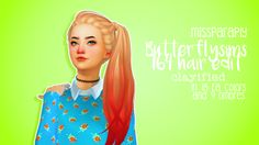 pxelbean:  Butterflysims 164 hair Edit (Retexture)