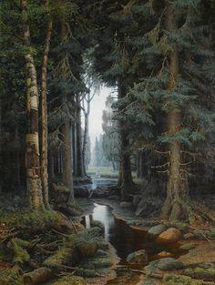laclefdescoeurs: Forest Scene, Vladimir Archipovich Bondarenko