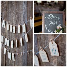 Wedding Place cards and Welcome