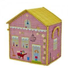 Raffia Play & Toy Storage Baskets - MEDIUM COTTAGE - RICE DK